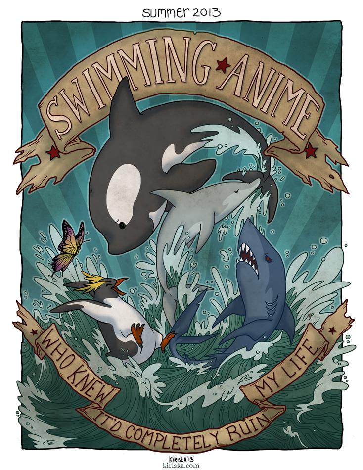 SWIMMING ANIME by Kiriska