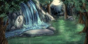 Commission - Moonlit Springs by Kiriska