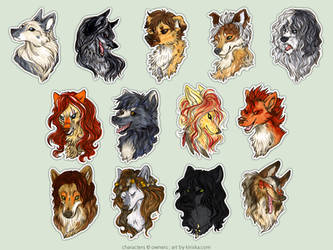 SoSuWriMo 2015 Avatar Batch by Kiriska