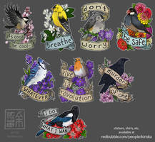 Birds and Flowers II by Kiriska