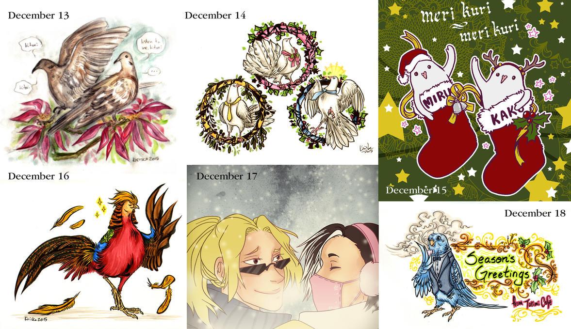 Hatoful Advent Calendar 13-18 by Kiriska on DeviantArt