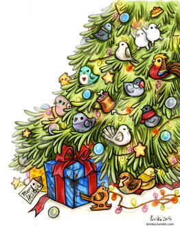 Hatoful Advent Tree