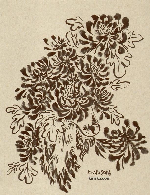 Chrysanthemums by Kiriska