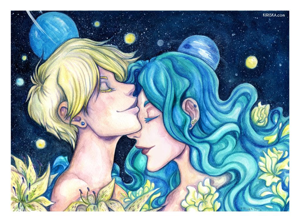Uranus and Neptune by Kiriska