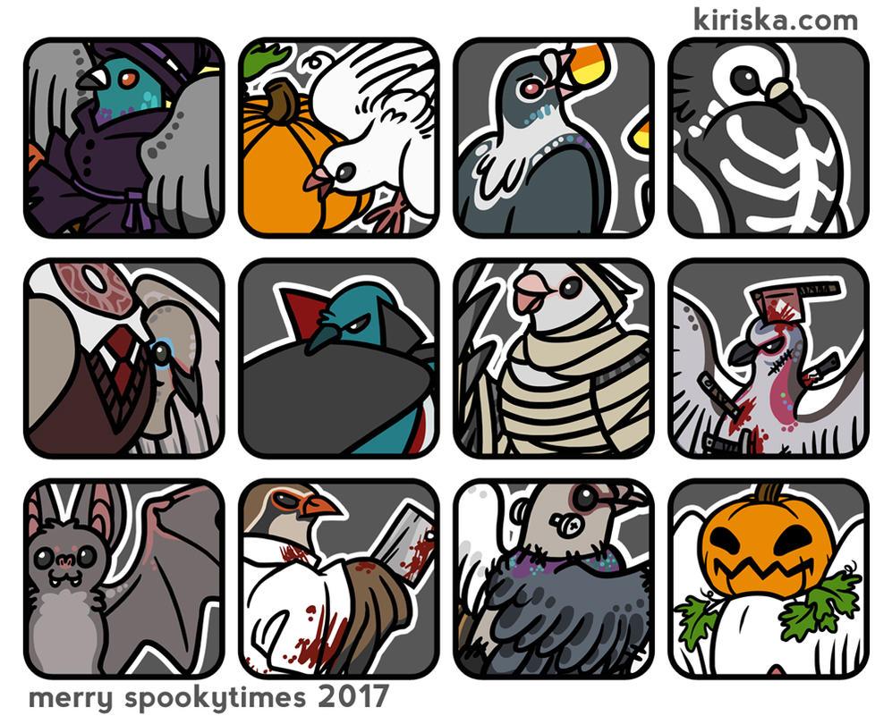 Spooky Bird Party by Kiriska