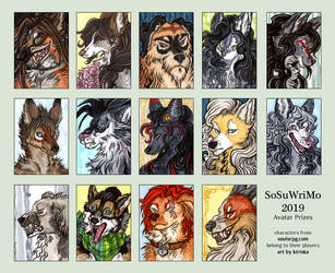 SoSuWriMo 2019 Avatar Batch by Kiriska
