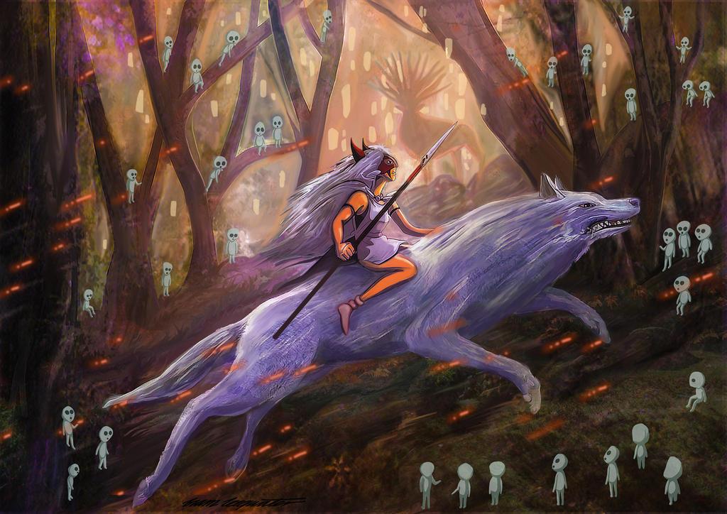 Princess Mononoke by BramLeegwater