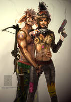 Tank Girl and Booga by BramLeegwater