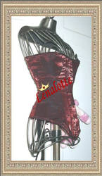 Red edwardian Corset by lenalotte
