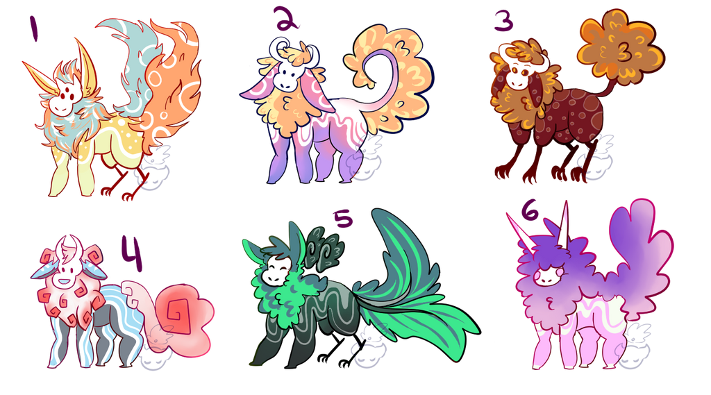 OTA ADOPTS 6 (OPEN 2/6) by dandyliondreamer