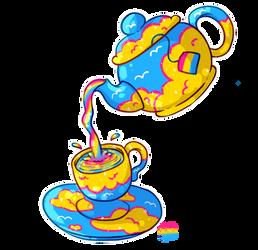 PansexualiTEA Pride Sticker