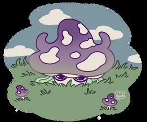 Mushroom Girl is Shy