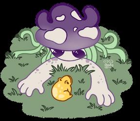 Mushroom Girl - Curious