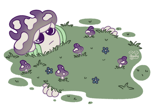 Mushroom Girl - Lays Down