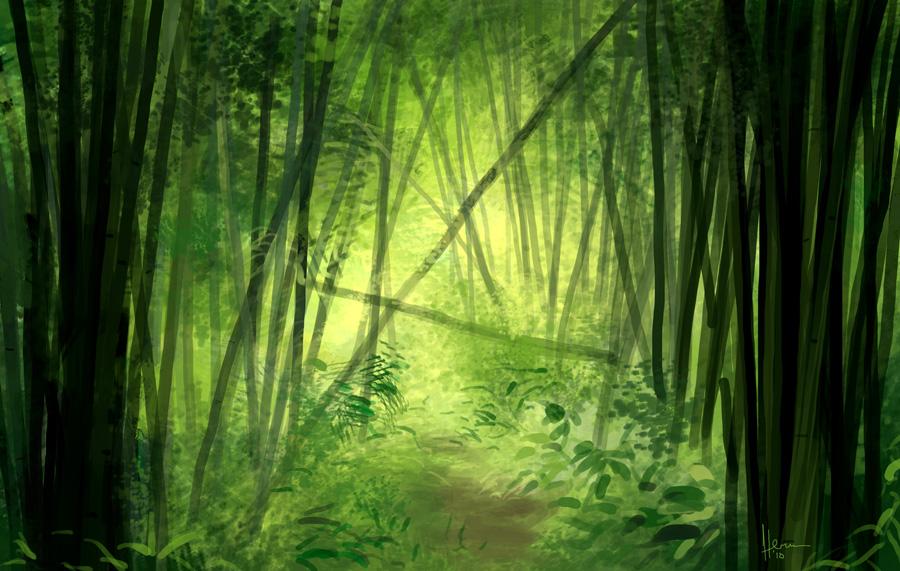 bamboo forest speed paint by eru17 on deviantart