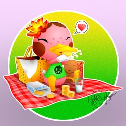 Animal Crossing - Freckles - Quackers and Milk by BouncekDeLemos
