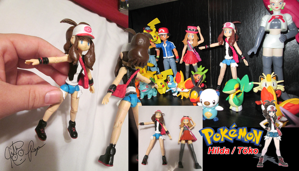 Pokemon Hilda/Touko Custom Figure by BouncekDeLemos
