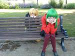 Sneaky Akita