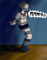 Commission : Toga himiko bound and gagged by Gregory-GID-DID