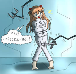 Commission : Asuka Langley straitjacket ! by Gregory-GID-DID