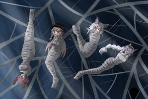Commission : Girls in Spiderweb by Gregory-GID-DID