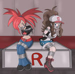 Commission : Flannery and Hilda Tape gag