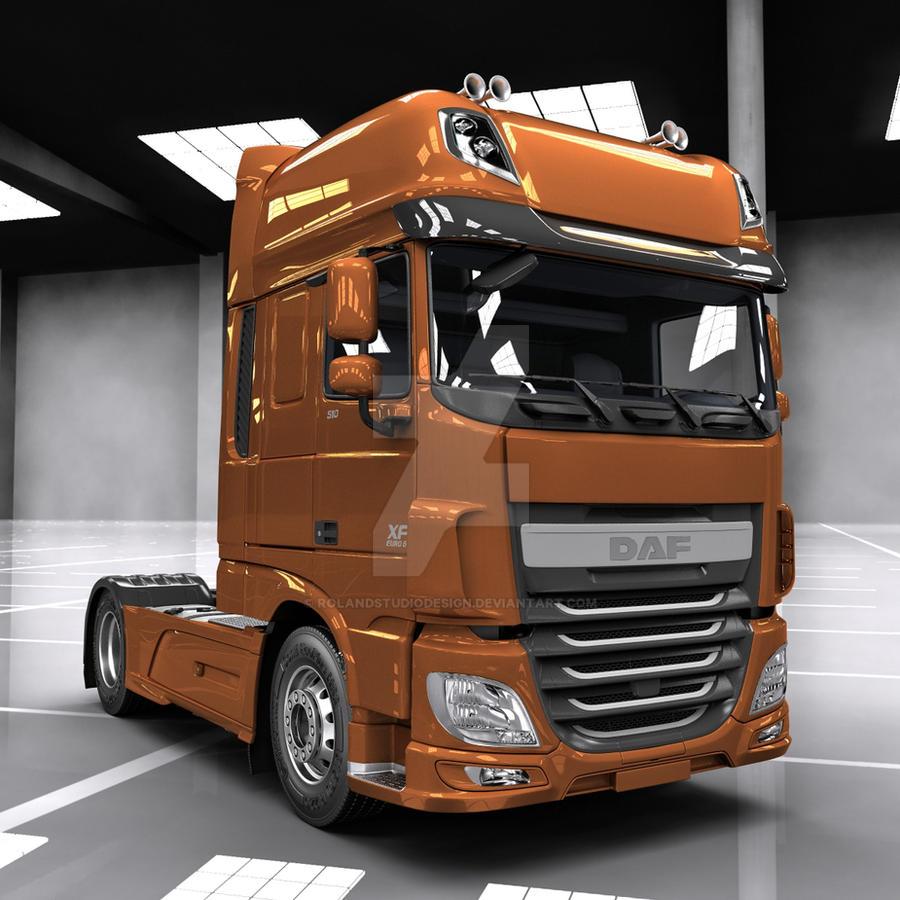 daf xf euro 6 render by rolandstudiodesign on deviantart