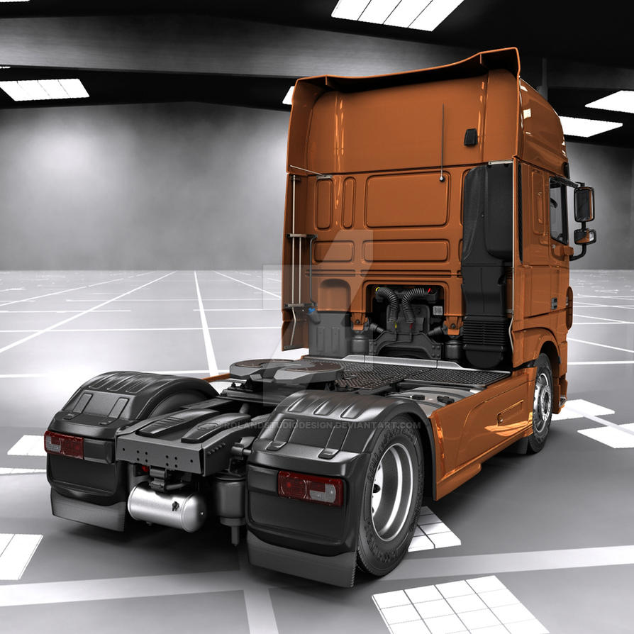 Daf xf euro 6 garage render by rolandstudiodesign on for Garage daf tours