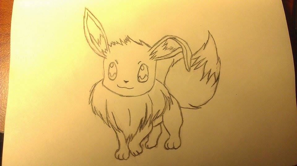 Floppy Ear Eevee WIP 2 *Cleaned Up Lines* by Mokonaru
