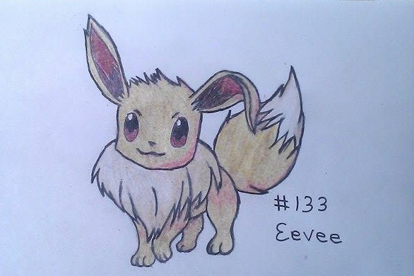 #133 Eevee - Floppy Eared by Mokonaru