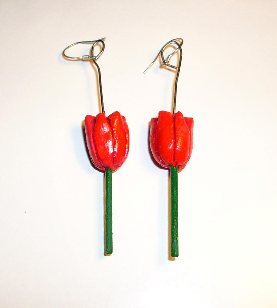 Tulip Earrings by kratosisy
