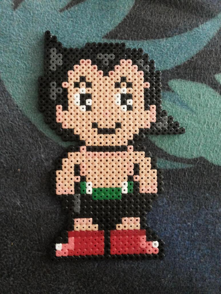 Astro Boy Beaded Hama Beads by kratosisy