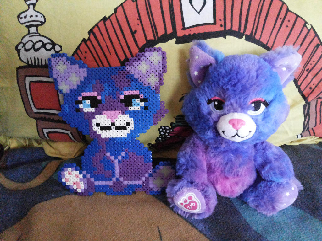 Build a Bear Stars-A-Glow in Hama Beads try by kratosisy