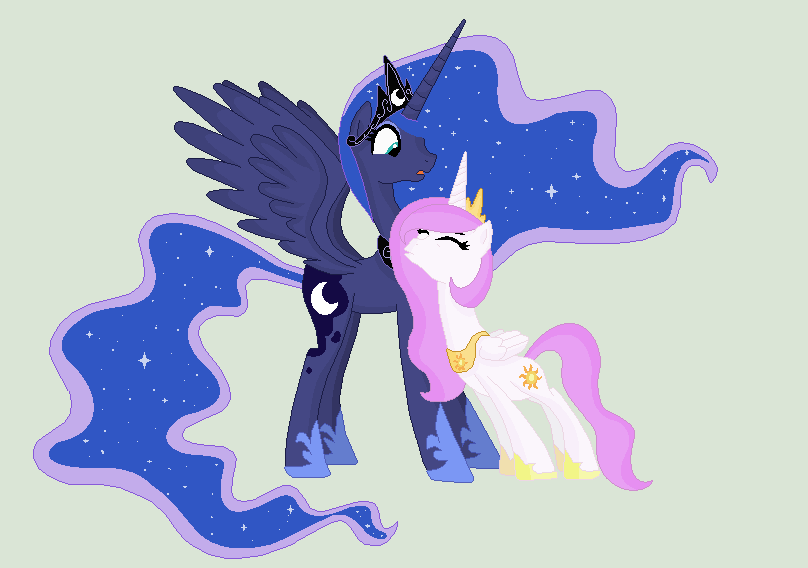 AU- Princess Luna And Princess Celestia By TessTDM On ...