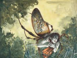 The Golden Orbweaver by emera