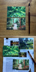Tiny watercolors: gardens + forest pathways by emera