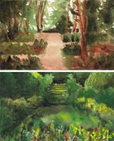 Gardens + forest pathways by emera