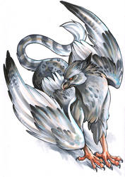 silver griffon by CalifornianPeanuts
