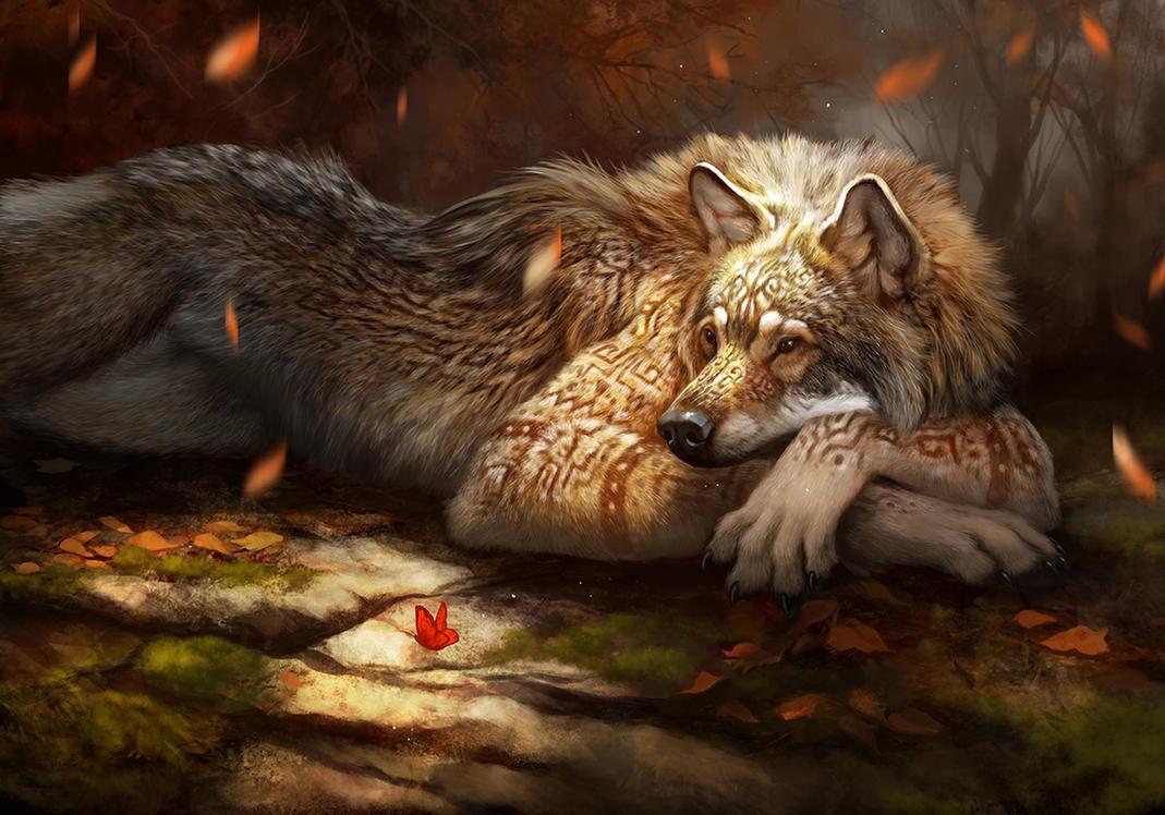 Deviantart Calendar : Red gold werewolf calendar by ailah on deviantart