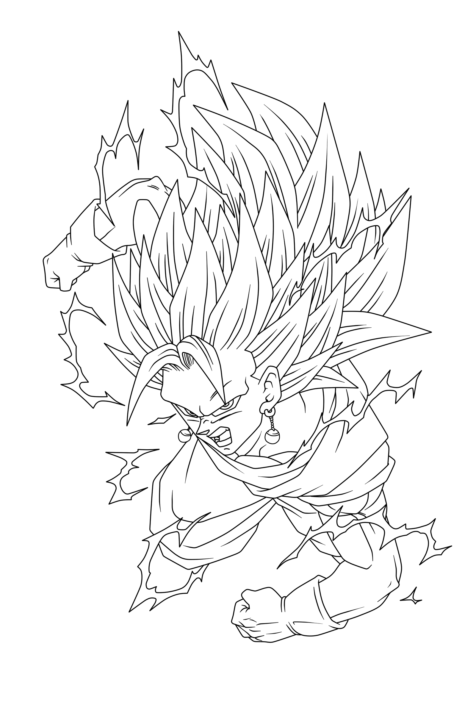 Dragon Ball Z Lineart : Vegetto ssj lineart by arrancarippo on deviantart