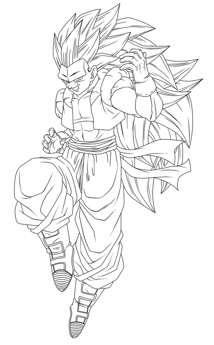 gotenks coloring pages - photo#32