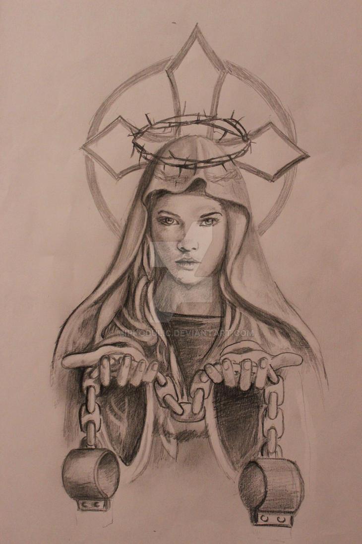Tattoo virgin holy mary by mirkodulic on deviantart for Holy mary tattoo