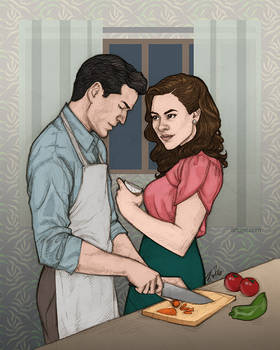 daniel + peggy + cooking