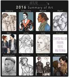 2016 summary of art by artgyrl