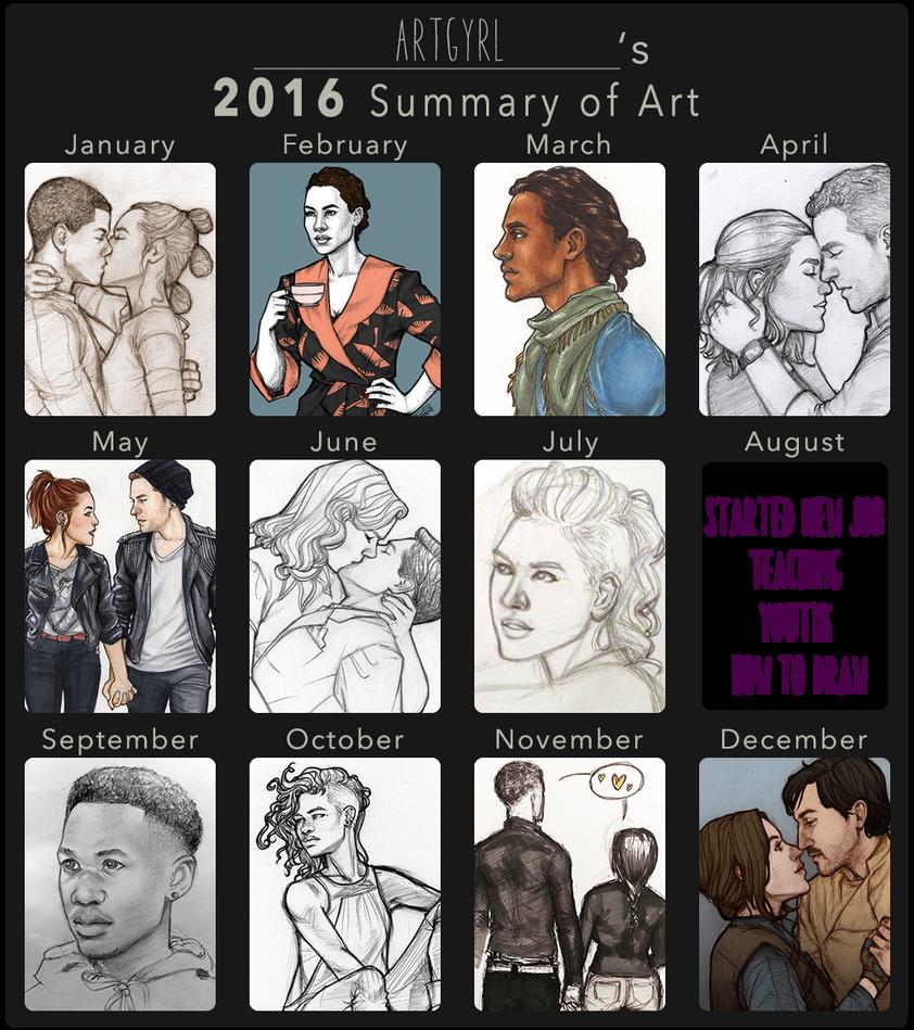 2016 summary of art by artgyrl