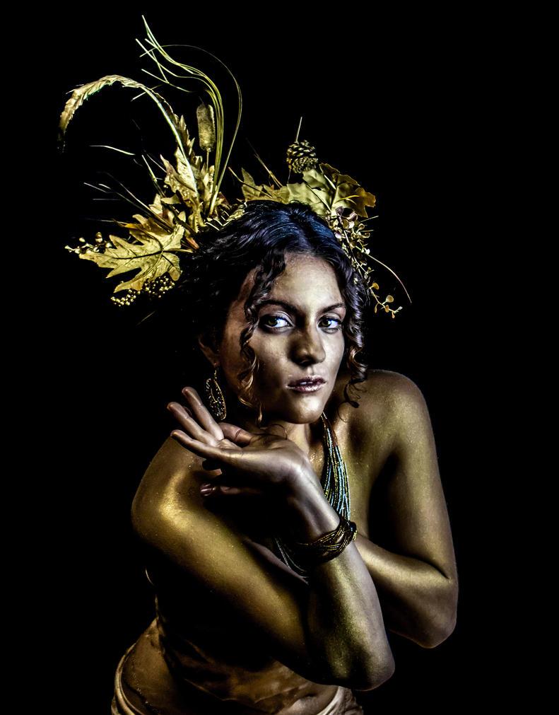 Golden Goddess 2 by lovehate-eternal