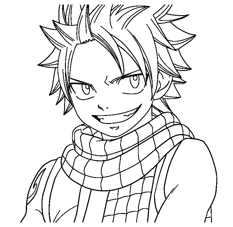 Natsu Lineart : Natsu lineart by xset on deviantart