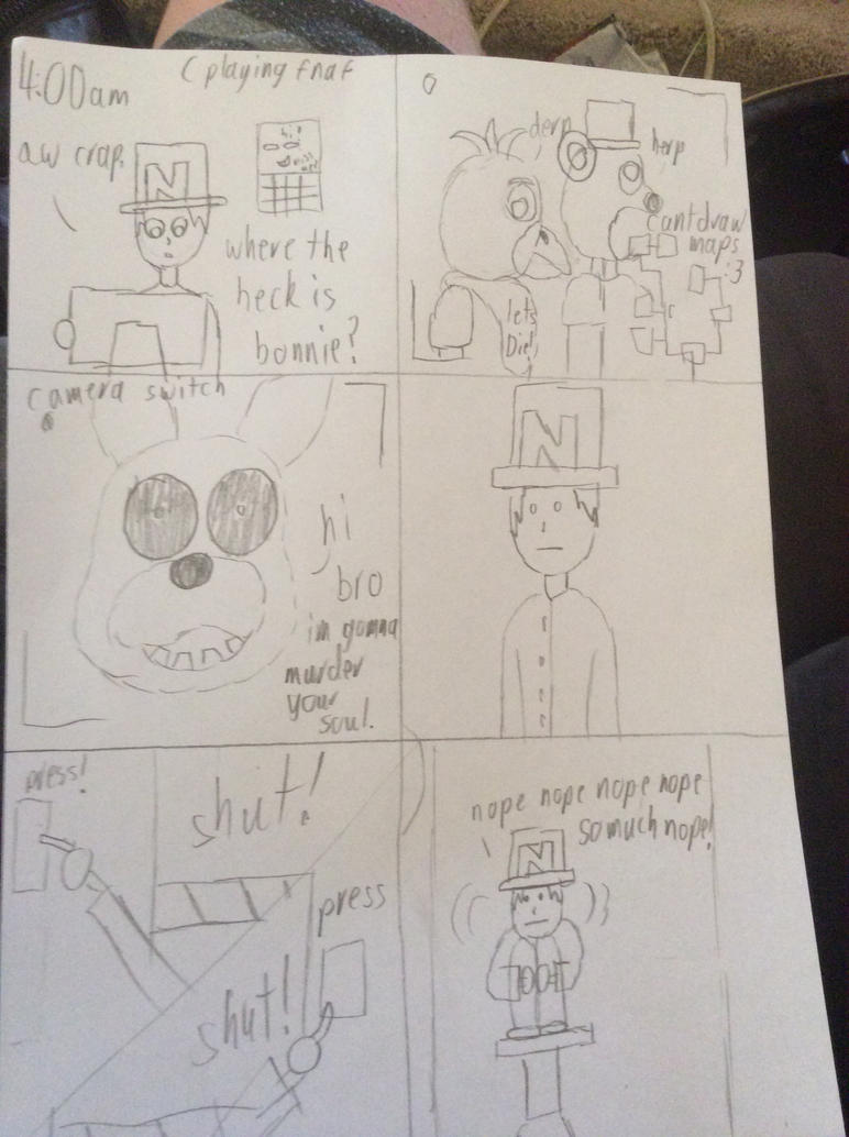A fnaf comic by devilx23