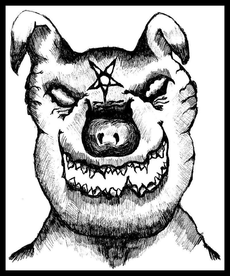 satanic piggy by halloweenkid