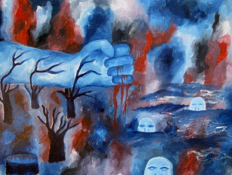 lake of sorrow by halloweenkid